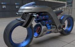 Concept moto cu propulsie electrică în stil Dyson